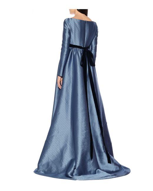Philosophy Di Lorenzo Serafini Blue Robe aus Jacquard