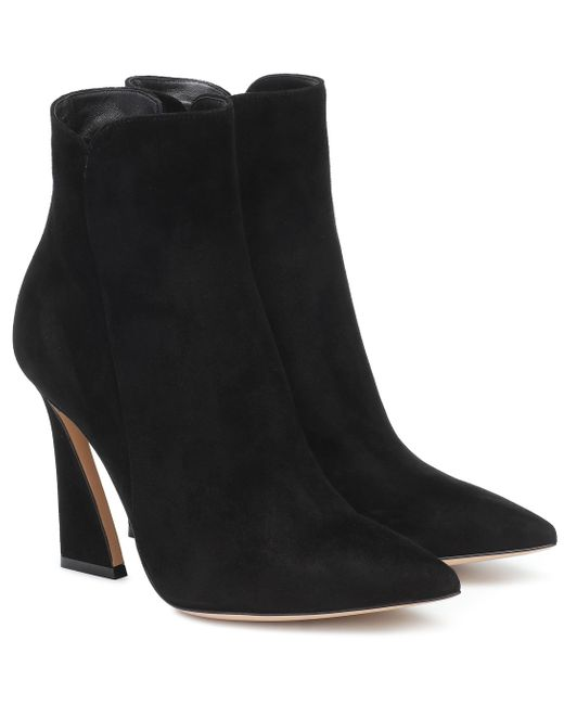 Gianvito Rossi Black Ankle Boots Aura 105