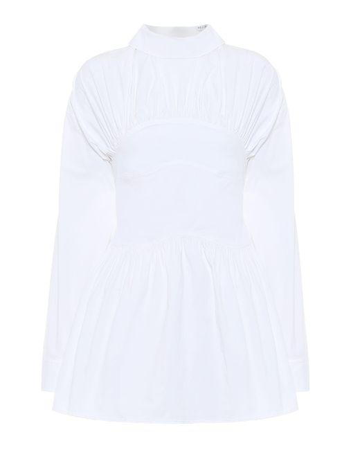 Rejina Pyo Blusa Vera de popelín de algodón de mujer de color blanco