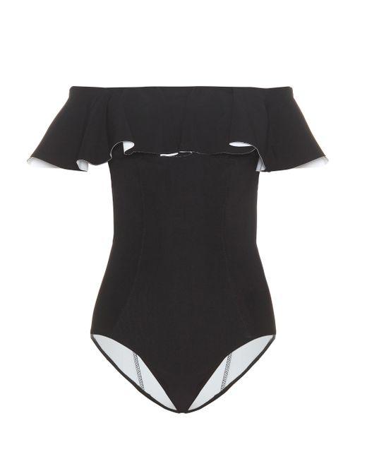 Lisa Marie Fernandez - Black Mira Flounce Swimsuit - Lyst