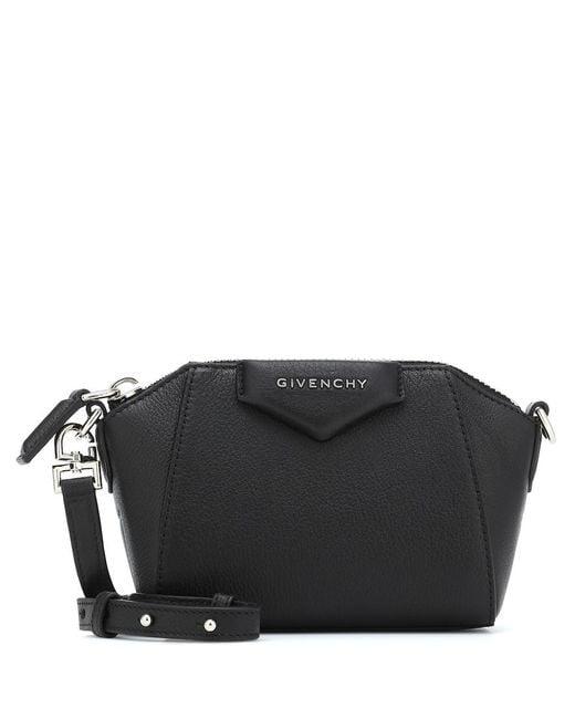 Borsa a tracolla Antigona Nano in pelle di Givenchy in Black