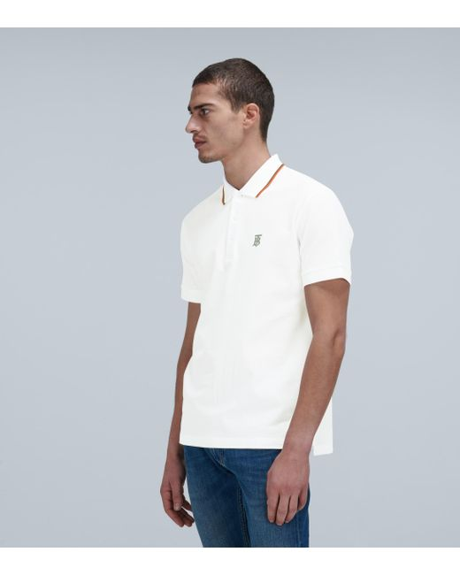 Burberry White Poloshirt Walton aus Baumwoll-Piqué