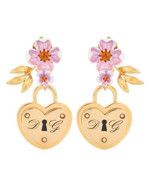 Dolce & Gabbana - Metallic Locket Clip-on Earrings - Lyst