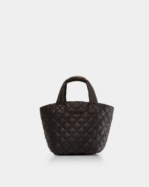 MZ Wallace Quilted Black Micro Metro Tote