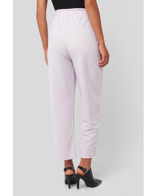 NA-KD Basic Slip Pants in het Purple