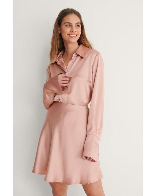 NA-KD Pink Reborn Hemd Mit Weiten Manschetten