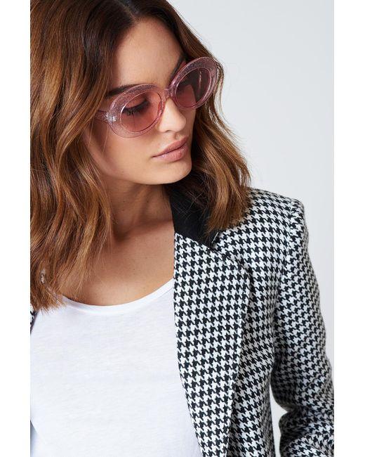 NA-KD - Pink Oval Sunglasses - Lyst