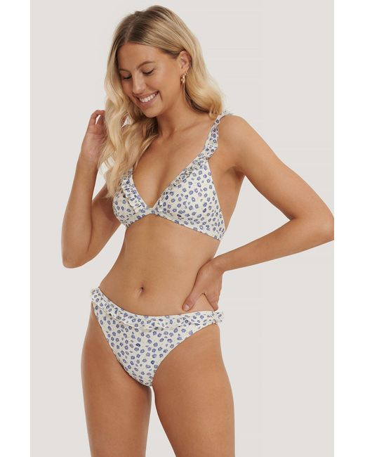NA-KD Multicolor Swimwear Bikinihöschen Mit Gerüschtem Saum