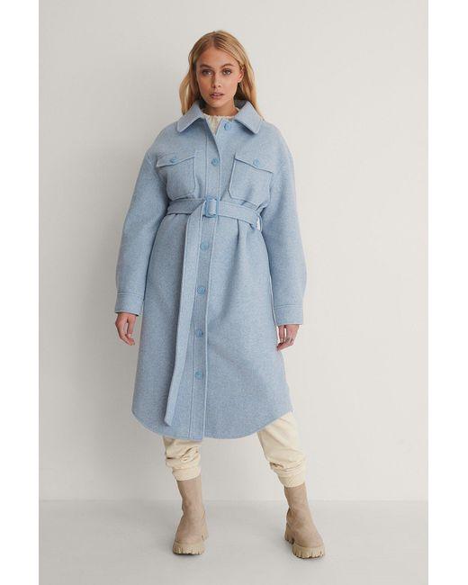 NA-KD Blue Trend Jacke Mit Brusttasche