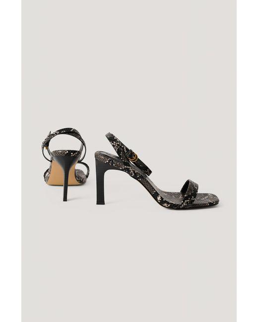NA-KD Stiletto's Met Enkelbandje in het Black