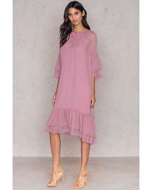 NA-KD | Pink Layered Dress | Lyst