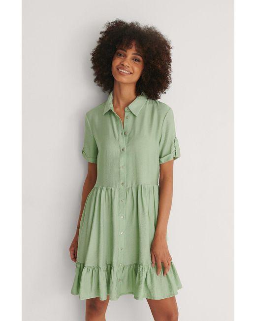 Trendyol Knop Mini-jurk in het Green