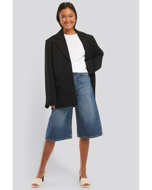 NA-KD Blue Trend Culotte Jeans