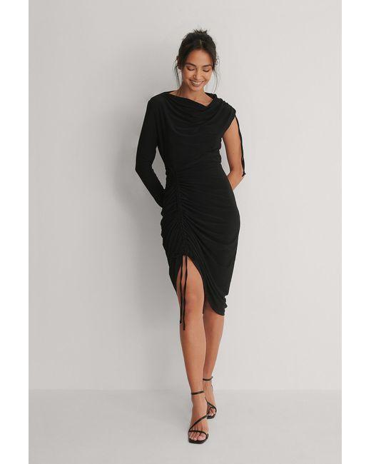 Trendyol Ingerimpelde Mini-jurk in het Black