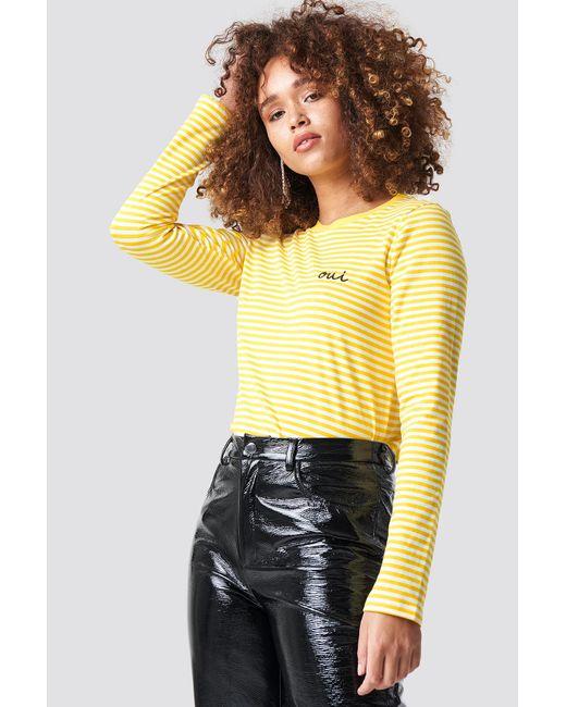 Rut&Circle - Oui Stripe Top Yellow - Lyst