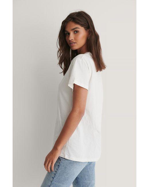 Trendyol Organisch T-shirt Met Logo in het White