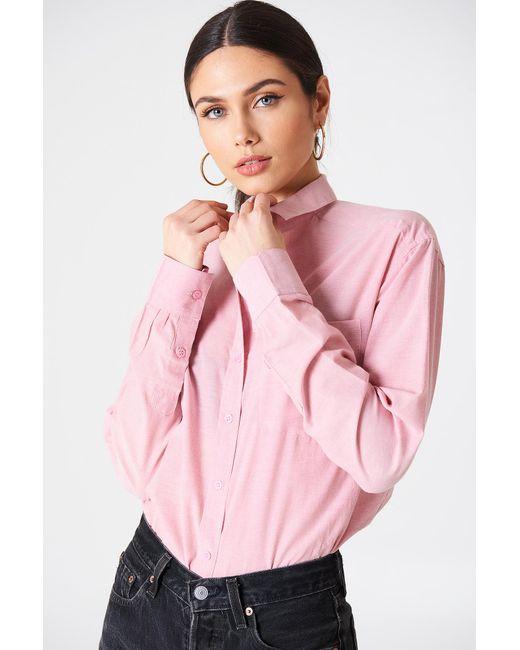 Rut&Circle - Selma Chambray Shirt Pink - Lyst