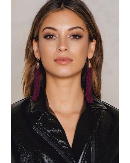 NA-KD   Purple Hanging Tassels Earrings   Lyst