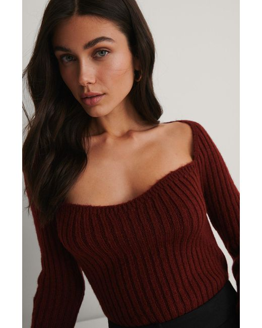 NA-KD Red Trend Pullover