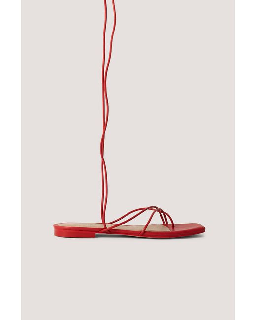 NA-KD Red Shoes Sandalen