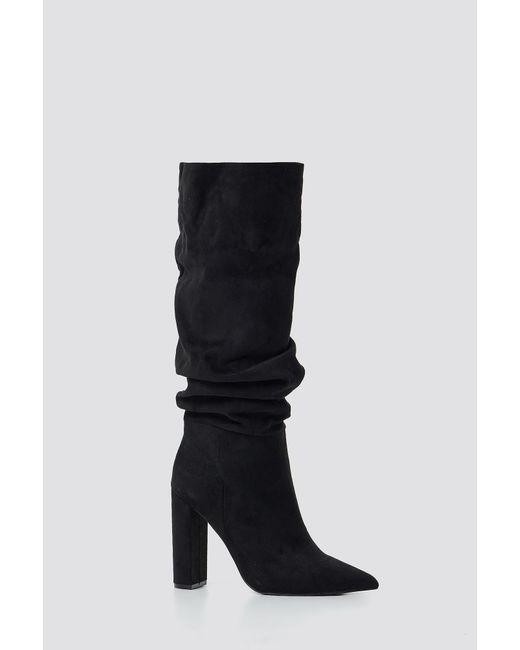 1c67285e2f2 Steve Madden Slouch Boot Black in Black - Lyst
