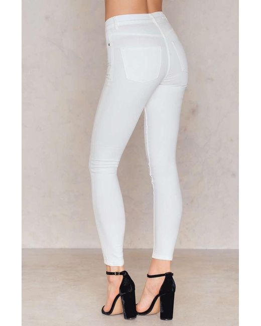 Cheap monday High Spray White Jeans in White | Lyst