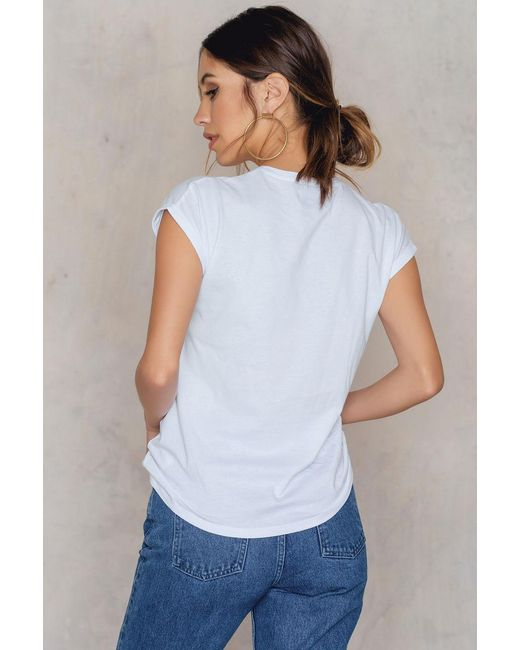Lyst na kd vibe embroidery t shirt in white save