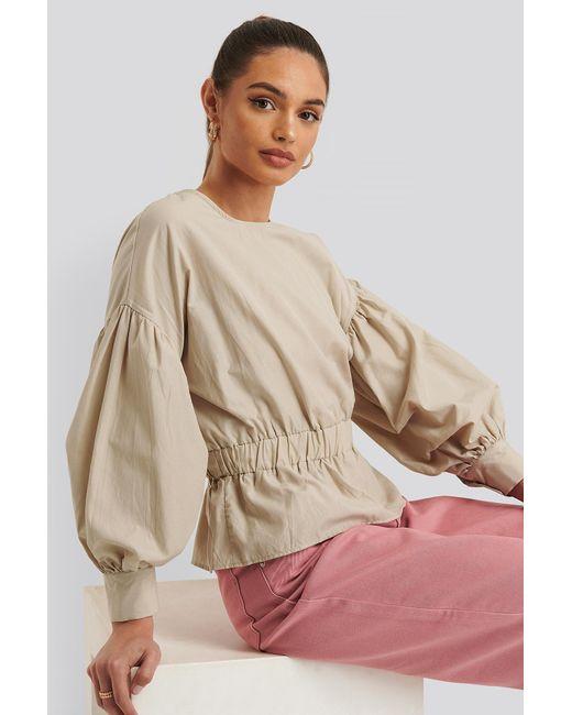 Trendyol Natural Bluse Mit Elastischer Taille