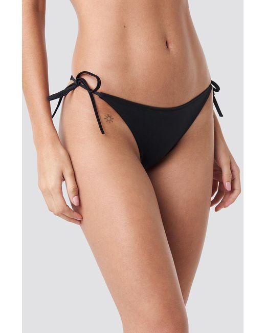 Calvin Klein Cheeky String Side Tie Bikini in het Black