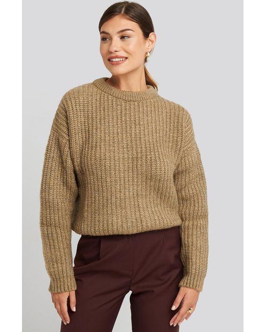 NA-KD Multicolor Heavy Knit Round Neck Sweater