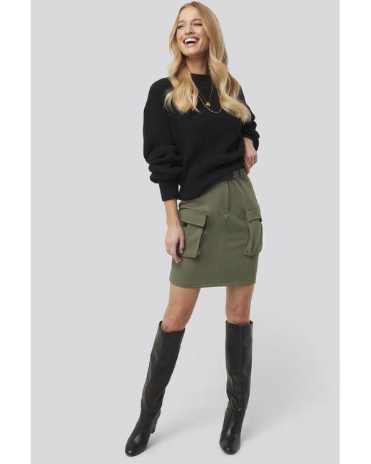 Trendyol Side Pocket Detail Skirt in het Black