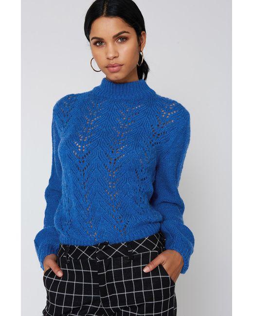 NA-KD - Blue Knitwear Sweater - Lyst