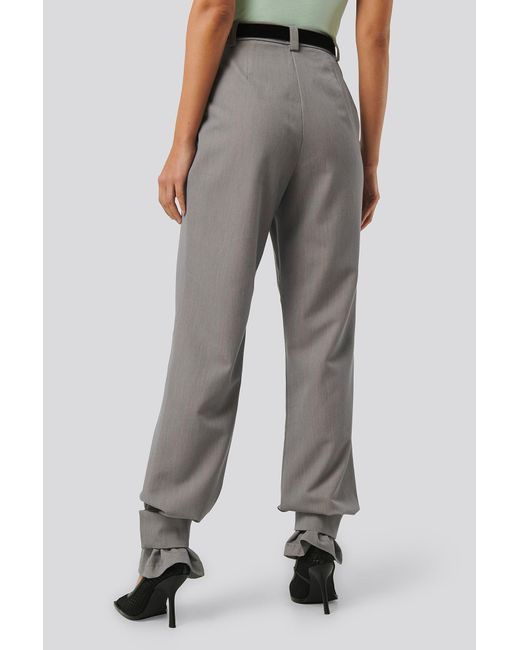 NA-KD Closure Suit Pants femme de coloris gris BlcL9