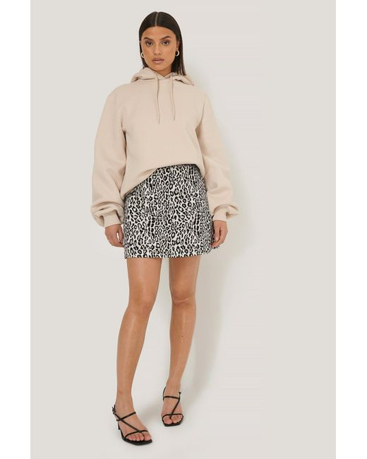 NA-KD Black Leopard Print Mini Skirt