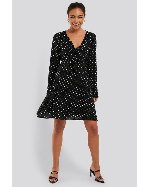 Rut&Circle Black Gepunktetes Kleid