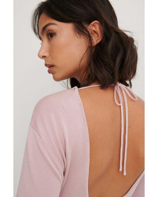 NA-KD Pink Trend Strickpullover