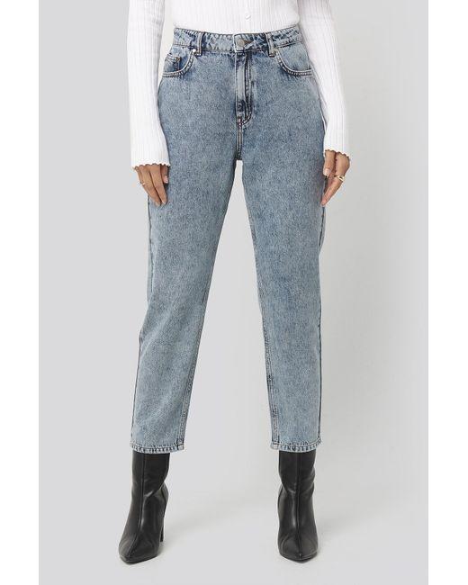 NA-KD Blue Dilara x High Waist Cropped Jeans