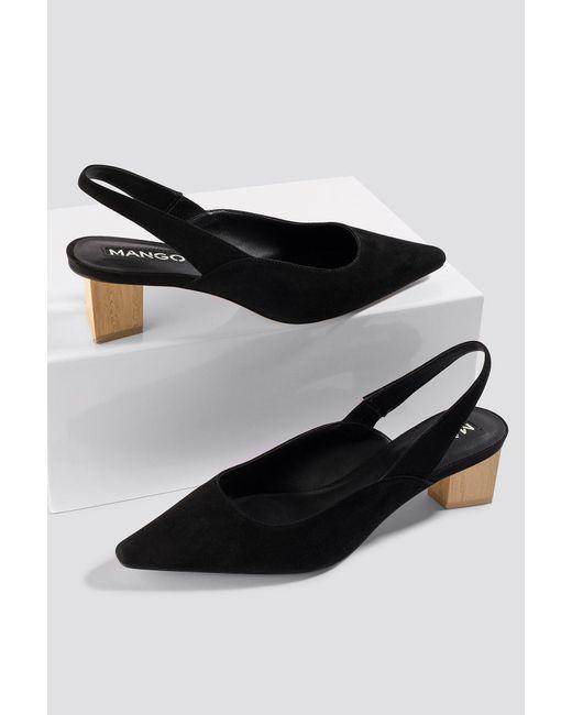 Mango Black Crose Shoes