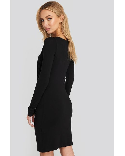 NA-KD Knot Detail Dress in het Black