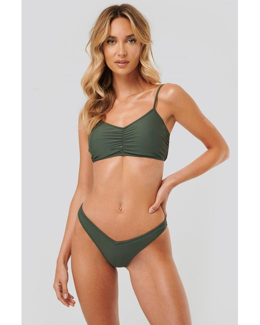 NA-KD Green V-highcut Bikini Panty
