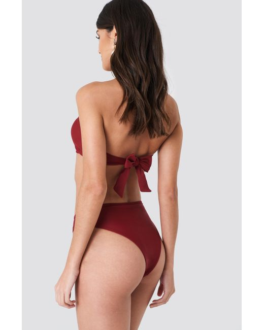 NA-KD Red J&K Swim X High Waist Bikini Panty