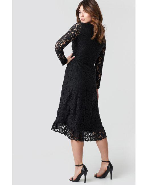 Black Flywheel Sleeve Trendyol Lace Dress Lyst In 3u1JcTK5lF