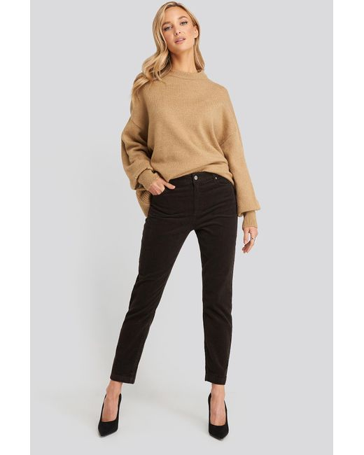 NA-KD Natural Trend Wool Blend Balloon Sleeve Sweater