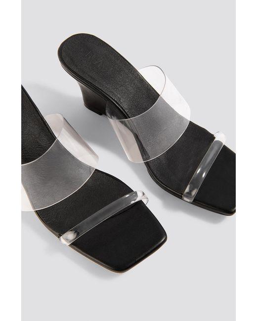 NA-KD Multicolor Shoes Transparent Wedge Heel Sandals