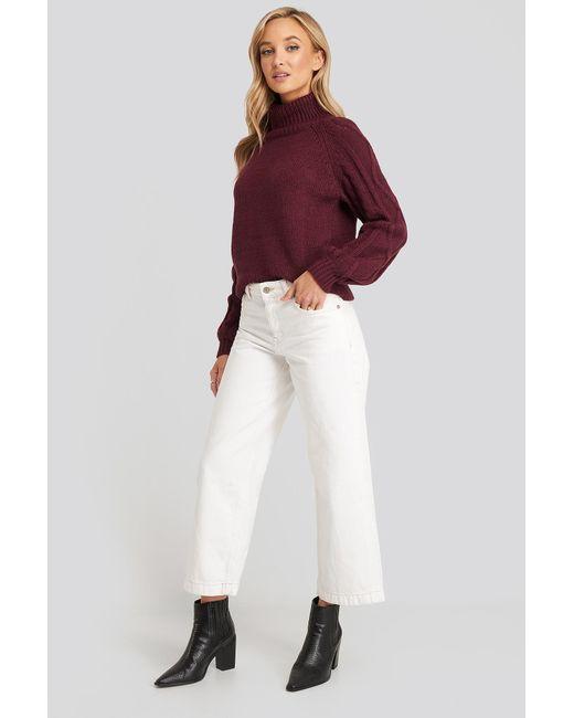 Mango Culotte Jeans in het White
