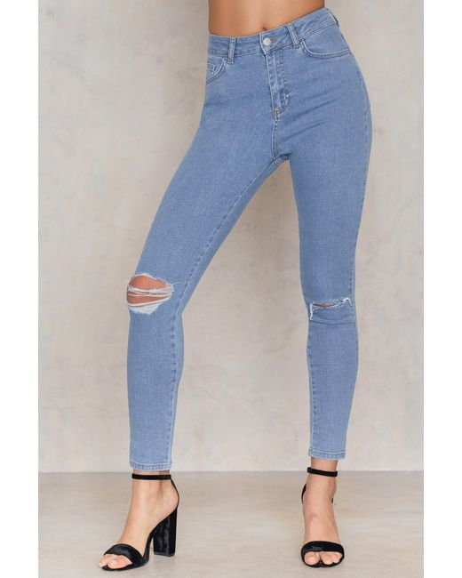 Na Save Knee Blue In Skinny Highwaist Ripped Kd Jeans Mid rzqc4r