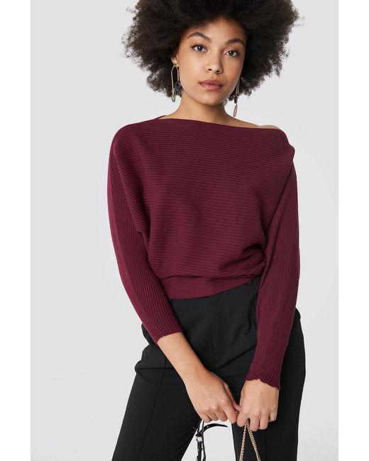2c527d056c4 Trendyol Off Shoulder Knitted Jumper Purple in Purple - Lyst