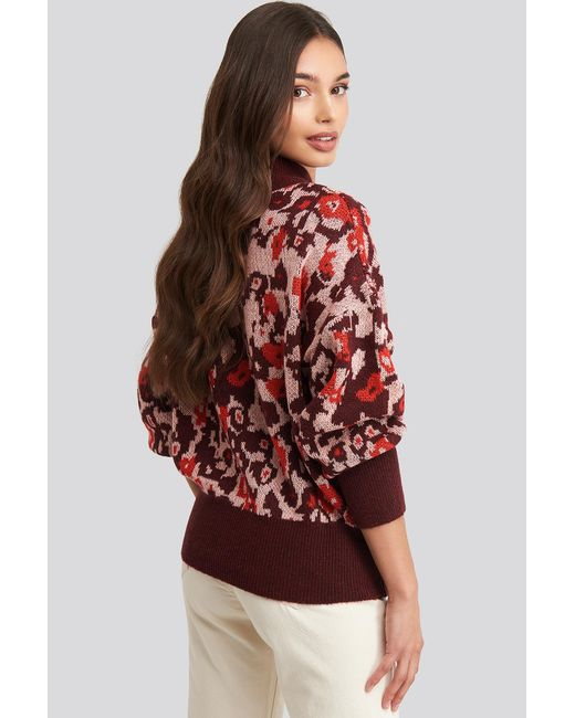 Trendyol Patterned Knitted Sweater in het Red