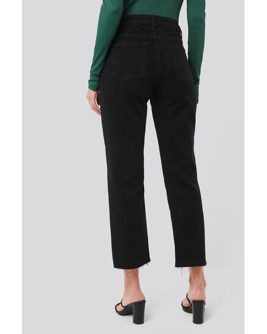 Straight Leg Jeans NA-KD en coloris Black