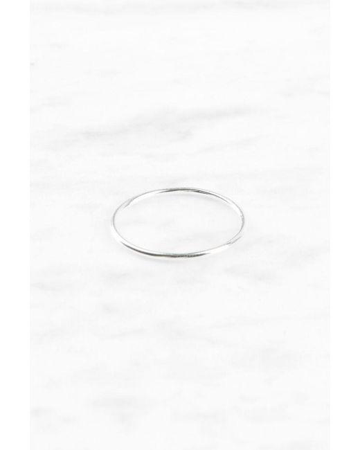 NA-KD   Metallic Thin Silver Ring   Lyst
